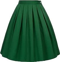 GRACE KARIN Falda Plisada Estampada Floral/a Lunares Vintage de Años para Mujeres ES6294