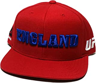 0580912e533 UFC Reebok MMA Red Blue White England Country Pride Flat Snapback  Adjustable Hat Cap