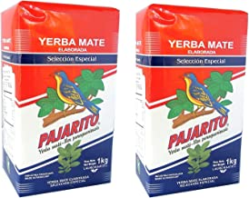 Pajarito Yerba Mate with Stems 1 kg (2.2 Lbs) 2 Pack