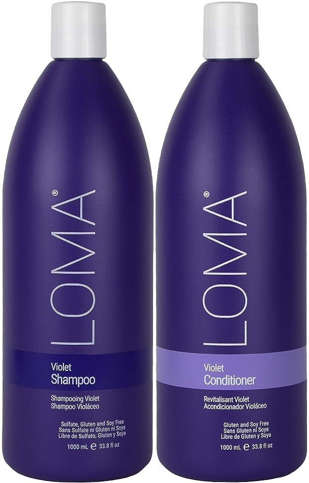 Loma Hair Care Violet Shampoo Violet Conditioner Duo, 33 oz.