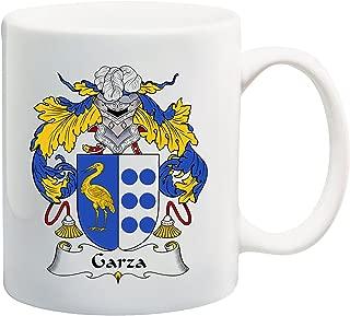Garza Coat of Arms/Garza Family Crest 11 Oz Ceramic Coffee/Cocoa Mug by Carpe Diem Designs, Made in the U.S.A.