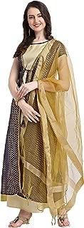 OOMPH! Women's art silk a-line Salwar Suit Set