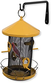 Durable Forged Wrought Iron Wall Mountable 10 Inch Bracket with Curved Hook for Planters Lanterns and Bird Feeders Black