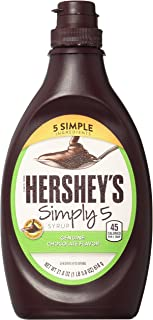 HERSHEY'S Chocolate Syrup, Simply 5, 21.8 Ounce (Pack of 6)