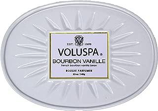 Voluspa Bourbon Vanille 2 Wick Candle In Decor Oval Tin, 12.7 Ounce