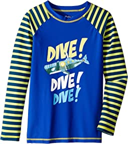 Animal Subs Long Sleeve Rashguard (Toddler/Little Kids/Big Kids)