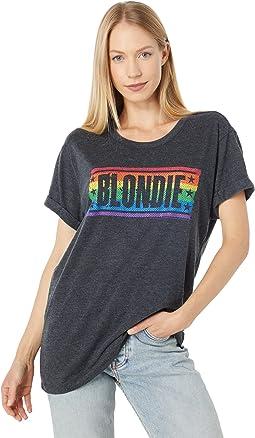 """""""Blondie Rainbow"""" Tri-Blend Jersey Rolled Tee"""