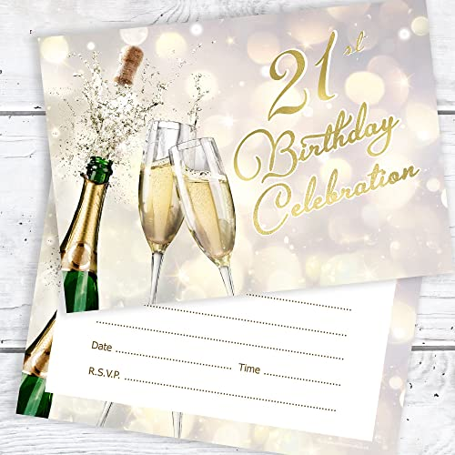 21st Birthday Celebration Invites