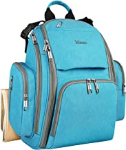 Baby Diaper Backpack, Travel Organizer Maternity Diaper Bags for Dad and Mom with Many Pocket, Insulated Pockets, Changing Pad, Well Made Durable Baby Shower Gifts Bags for Boys and Girls Care, Blue