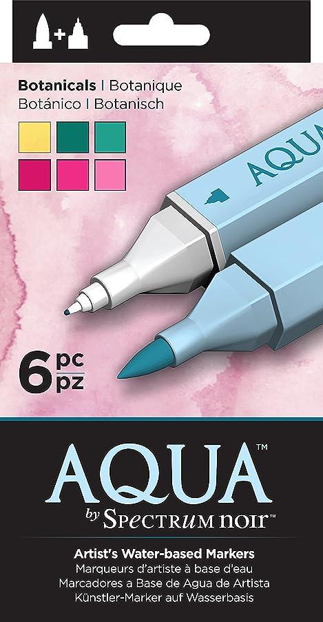 Spectrum Noir SPEC-AQ6-EAR SPECN-AQ6-BOT Watercolor Marker Set, Multicolor
