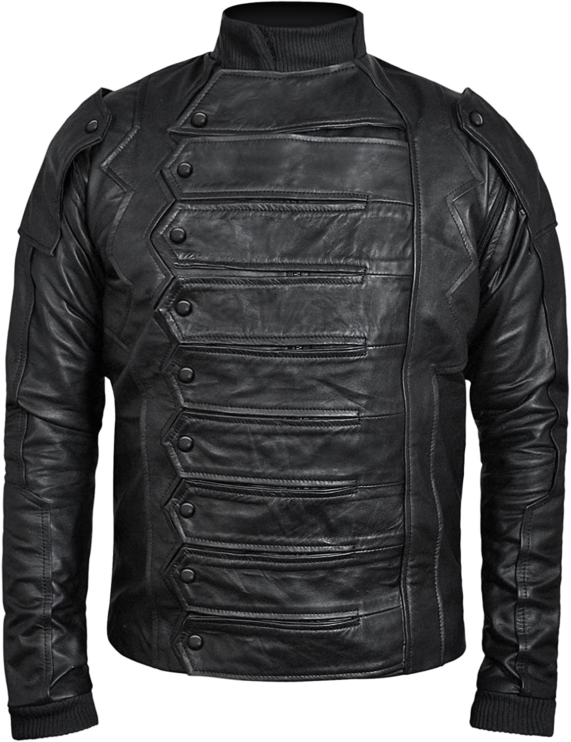 Famous Soldier Black Bucky Vest Jacket 2 in 1 Style - ►Real Leather Jacket◄