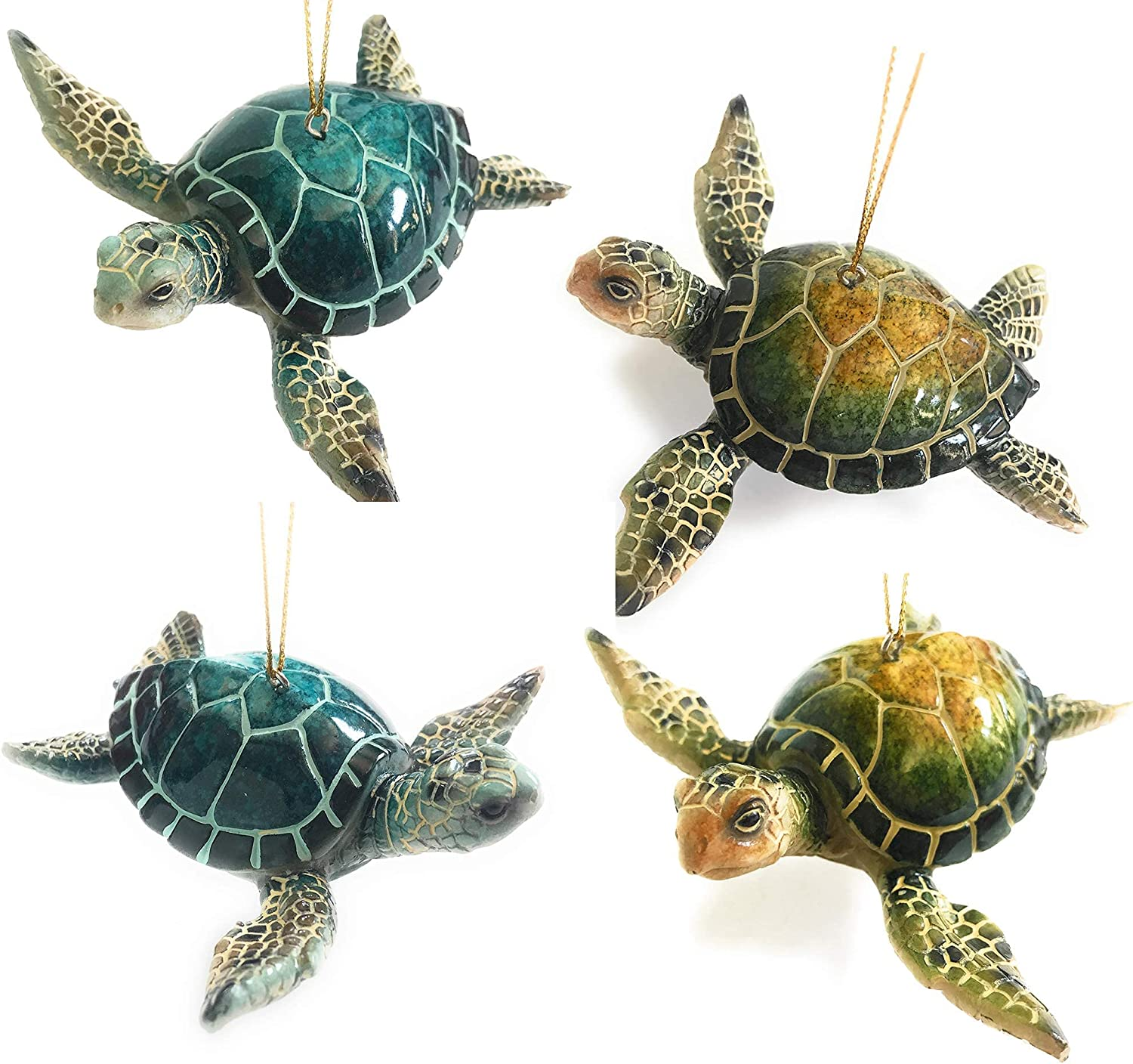 Beach Christmas Ornament Many popular Popular shop is the lowest price challenge brands Bundle of 4 Turtles Sea and Blue 2 -