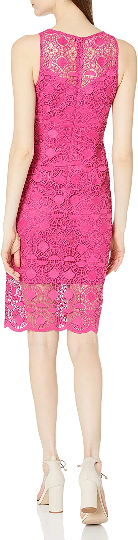 Adrianna Papell Women's Sunrise Lace Illusion Sheath