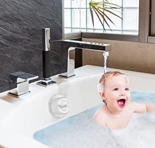 Zubree Baby Bathtub Safety Cover for Trip-Lever/Toggle Handle + Bonus Gift Silicone Baby Scrubber