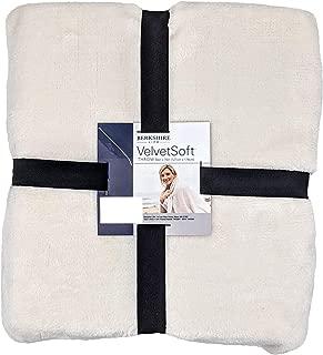 Berkshire Velvet Soft 50x70 Lightweight Warm Plush Throw (White)