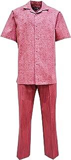 Men's Coated Linen Shirt-Pant Set, Paisley Print