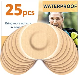 Fixic Adhesive Patches 25 Pack - ENLITE - Guardian - Best Waterproof Adhesive Patches – Round - Pre Cut – TAN Color – No Hole