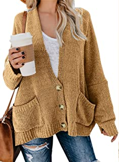 Womens Long Sleeve Open Front Cardigans Pullover Sweater Blouses S-XL