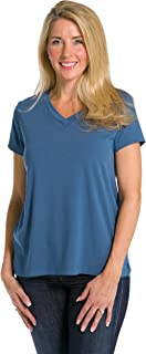 Fishers Finery Women's Ecofabric Short Sleeve V-Neck Tee; Relaxed Fit
