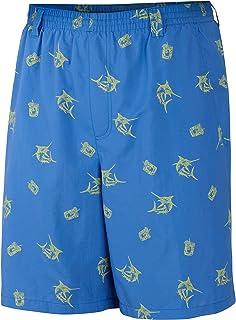 Columbia Sportswear Men's Backcast II Printed Shorts, Vivid Blue Marlin, XX-Large/6