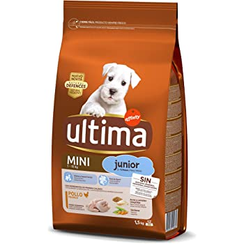 Ultima Pienso para Perros Mini Junior con Pollo - 1.5 kg: Amazon.es: Productos para mascotas