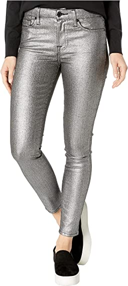 Metallic Ankle Skinny in Silver