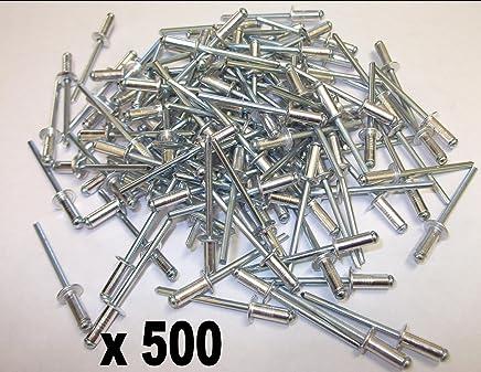 3.2/mm x 6/mm en aluminium Store Pop rivets ouverte /à t/ête ronde Lot de 500