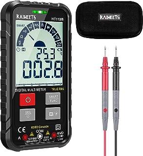 KAIWEETS 112B cyfrowy multimetr, inteligentny miernik prądu palmowego CAT III 600 V, True RMS Auto-Range, mierzy napięcie,...