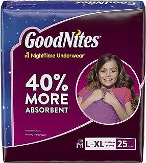 Huggies Goodnights Bedtime Big Pak Pants, Size 8-14/Large-X-Large (60-125+ Lbs), 25 Count