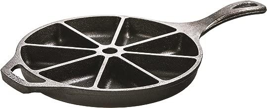 Lodge L8CB3 Cast Iron Cornbread Wedge Pan, Pre-Seasoned