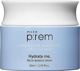 MAKEP: REM Hydrate me Micro Tension مرطوب کننده کرم آبرسان برای پوست آکنه پیری حساس به پوست خشک | مرطوب کننده آبرسان با اسید هیالورونیک برای صورت | 2.19 fl.oz. توسط MAKEPREM MAKE P: REM