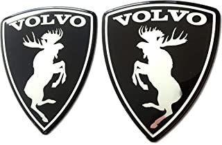 Alstickers! Aluminum-polyutethane car Stickers Prancing Moose (ELK) Volvo Set 2 Pieces Glossy, Size 2.83