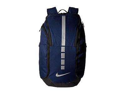 Nike Hoops Elite Pro Backpack (Midnight Navy/Black/Metallic Cool Grey) Backpack Bags