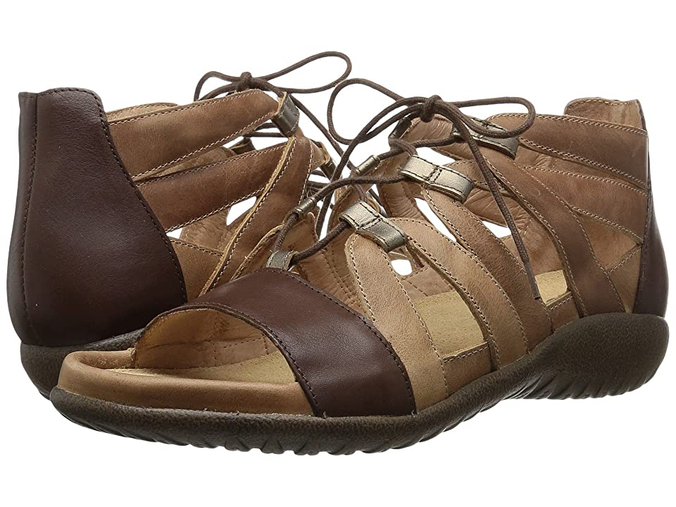 Naot Selo (Latte Brown Leather/Toffee Brown Leather/Pewter Leather) Women