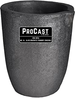 #14-16 Kg ProCast Foundry Clay Graphite Crucibles Cup Furnace Torch Melting Casting Refining Gold Silver Copper Brass Aluminum