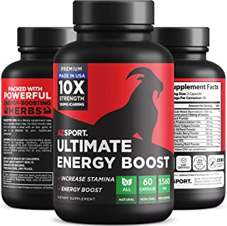 AZSPORT Ultimate Energy Booster for Men, 10X Strength, 60 Capsules