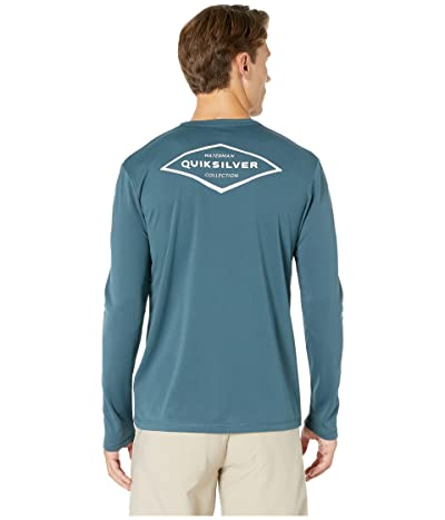 Quiksilver Waterman Gut Check Long Sleeve Rashguard (Orion Blue) Men