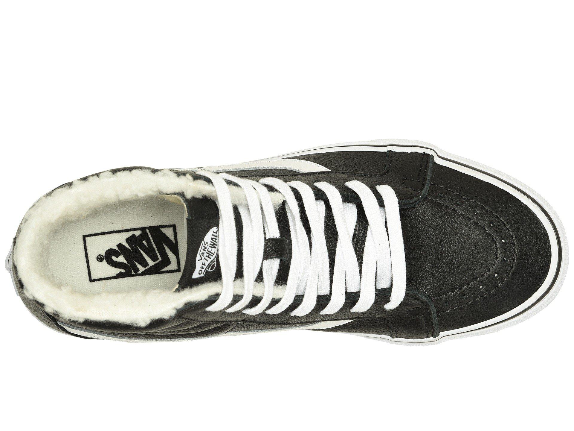 leather Black White Reissue fleece hi 2 Vans true Sk8 7WxnTCf70t
