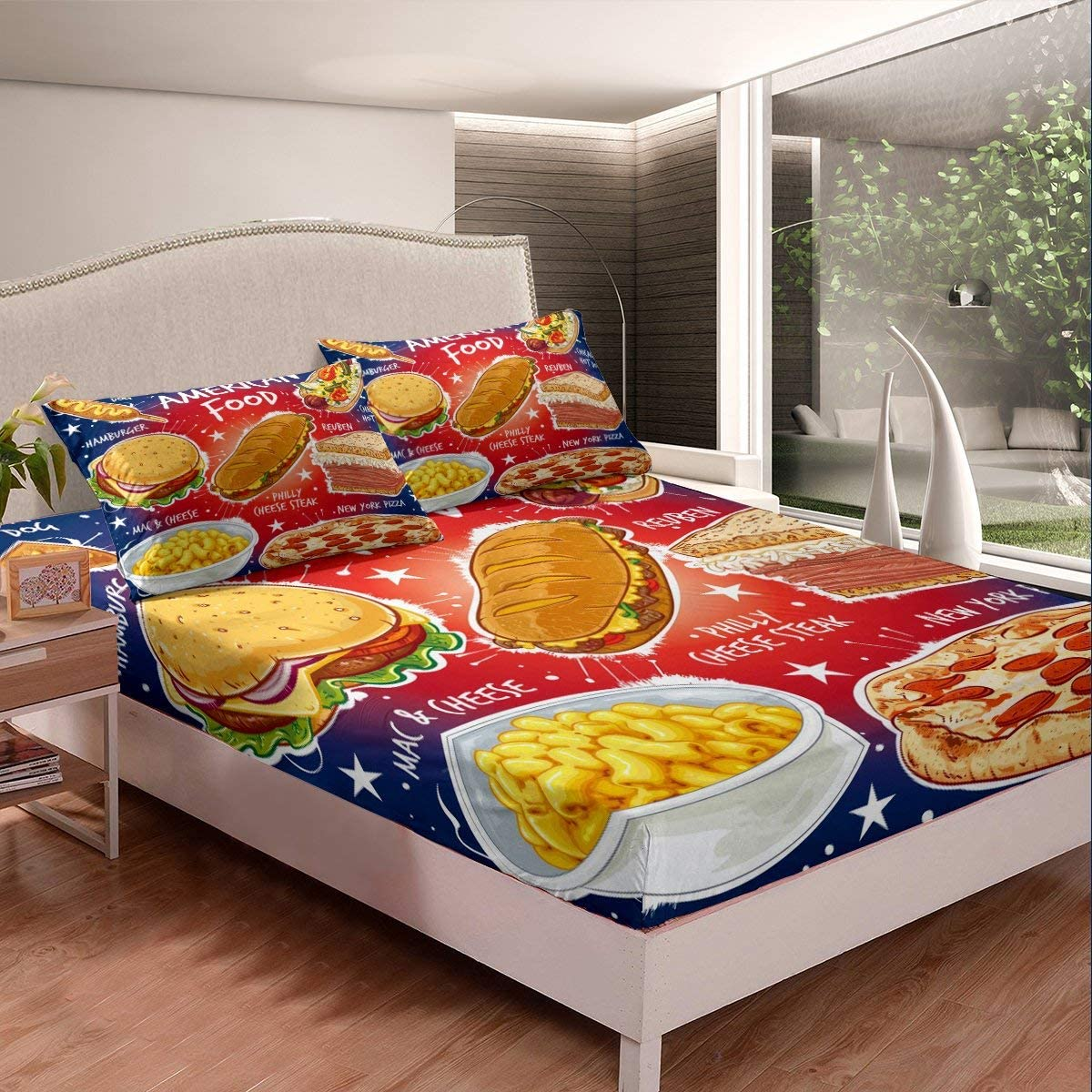 Erosebridal Children Fast Food Bedding Pizza Hamburger Sheet Cheap mail order sales Set Opening large release sale