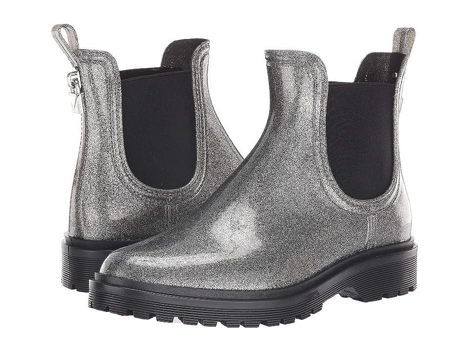 MICHAEL Michael Kors Tipton Rain Bootie (Gunmetal Glitter PVC) Women