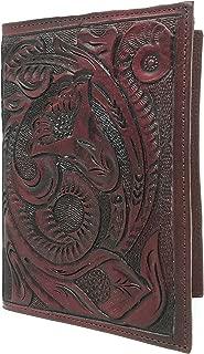 Mauzari Passport Holder for Women Hand Tooled Leather Designer Vintage (Mahogany)
