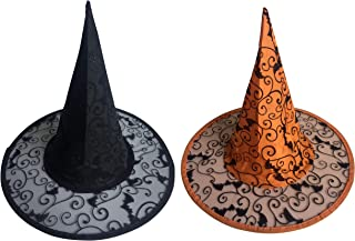 Witches Hat - Halloween. Pack of 2 (Black & Orange)