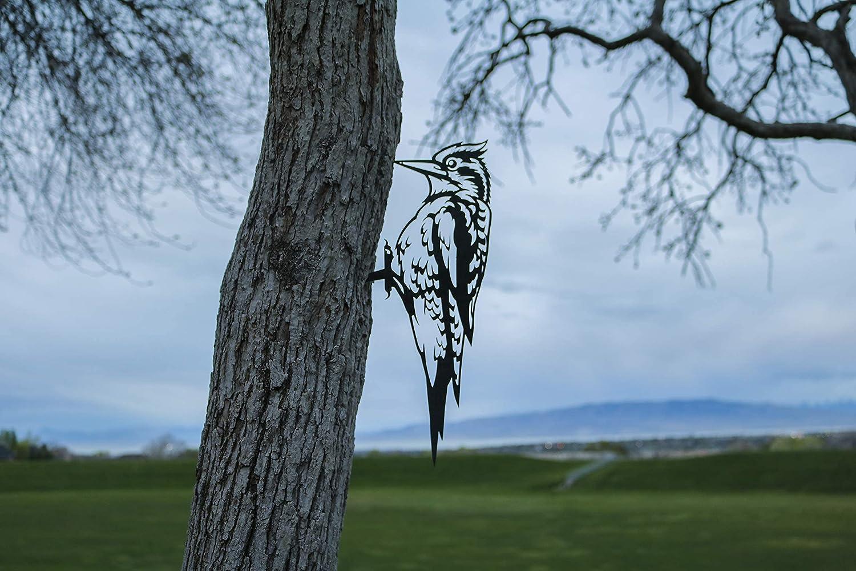 Steel Woodpecker Decoration Metal Ranking TOP4 Art Charlotte Mall Backyard Garden