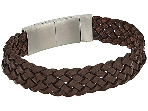 Fossil Leather Bracelet With Magnetic Closure At Zappos Com