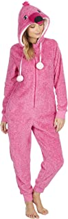 Ladies Super Soft Snuggly Novelty Flamingo Onesie/Sleepsuit