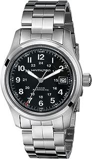 Men's HML-H70455133 Khaki Field Analog Display Swiss Automatic Silver Watch