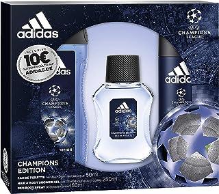 adidas Aroma Juego UEFA League Champions Edition Eau de Toilette 50ml + Desodorante Spray 150Ml + Show ergel 250ml + Vo...