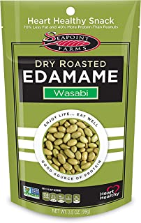 Wasabi Dry Roasted Edamame, Healthy Gluten-Free Snacks, 12-Pack, 3.5 Ounce, Pack of 12