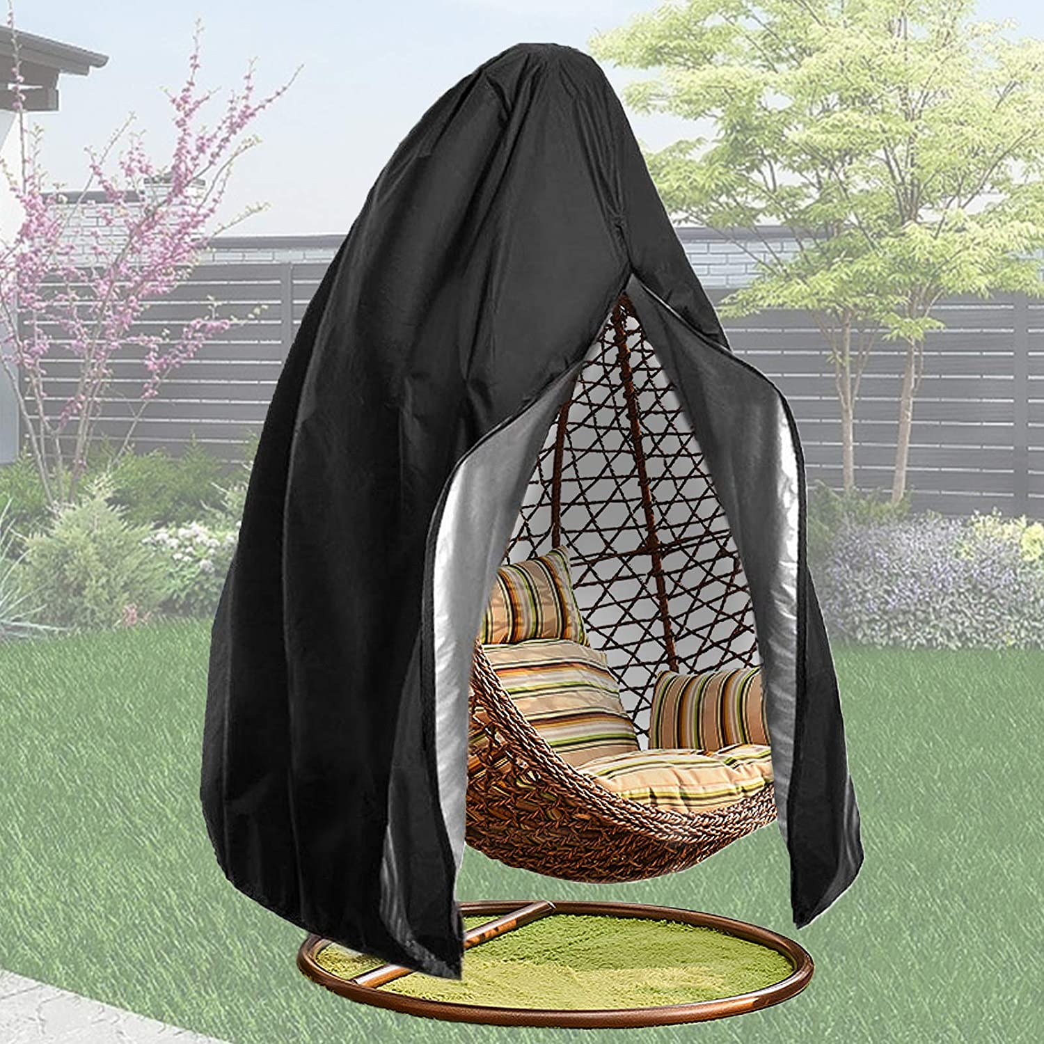Patio Hanging Arlington Mall Egg Chair Cover with Waterproof Wi Outdoor Zipper- Recommendation