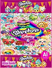 Alina shopkins Coloring & Activity Book: Coloring book for kids; stickers & activity book